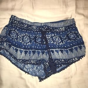 House of Harlow 1960 Blue Patterned Shorts